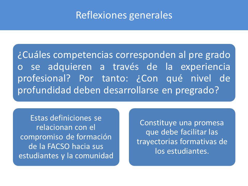 Reflexiones generales
