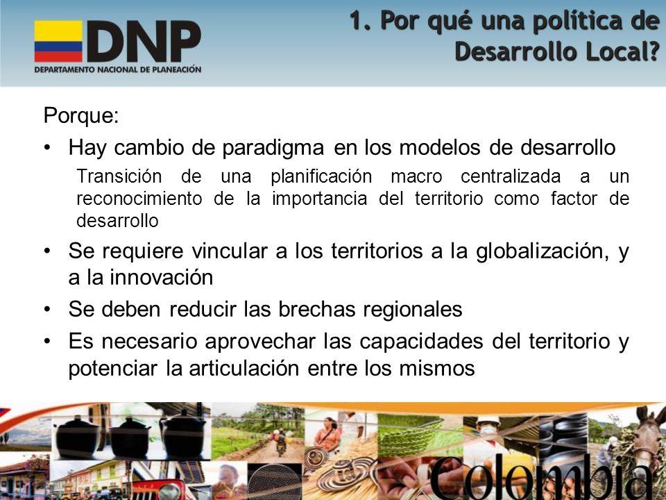 1. Por qué una política de Desarrollo Local