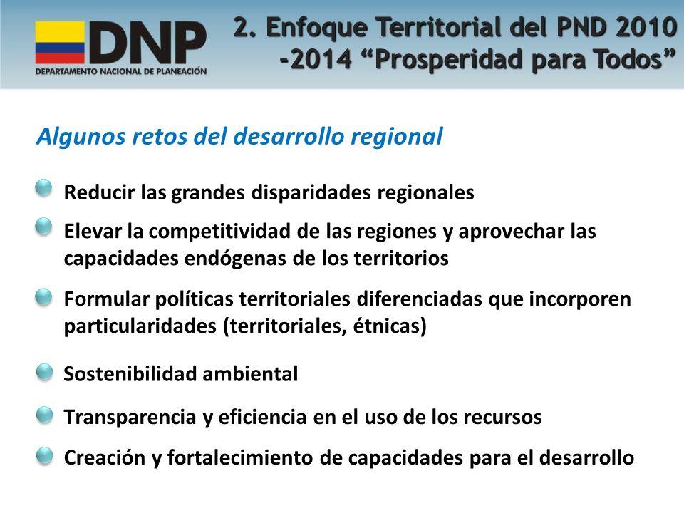 2. Enfoque Territorial del PND 2010 -2014 Prosperidad para Todos