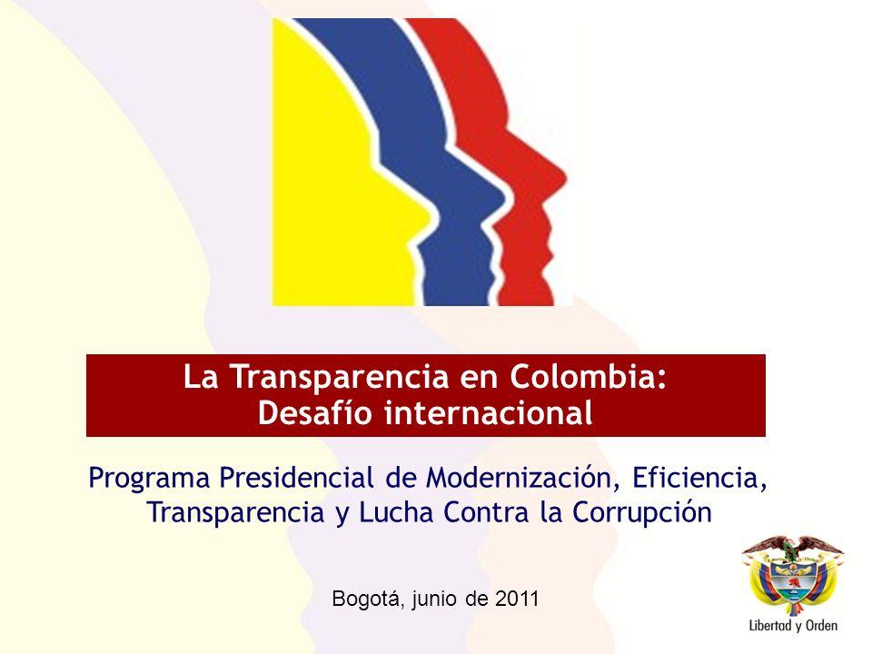 La Transparencia en Colombia: Desafío internacional