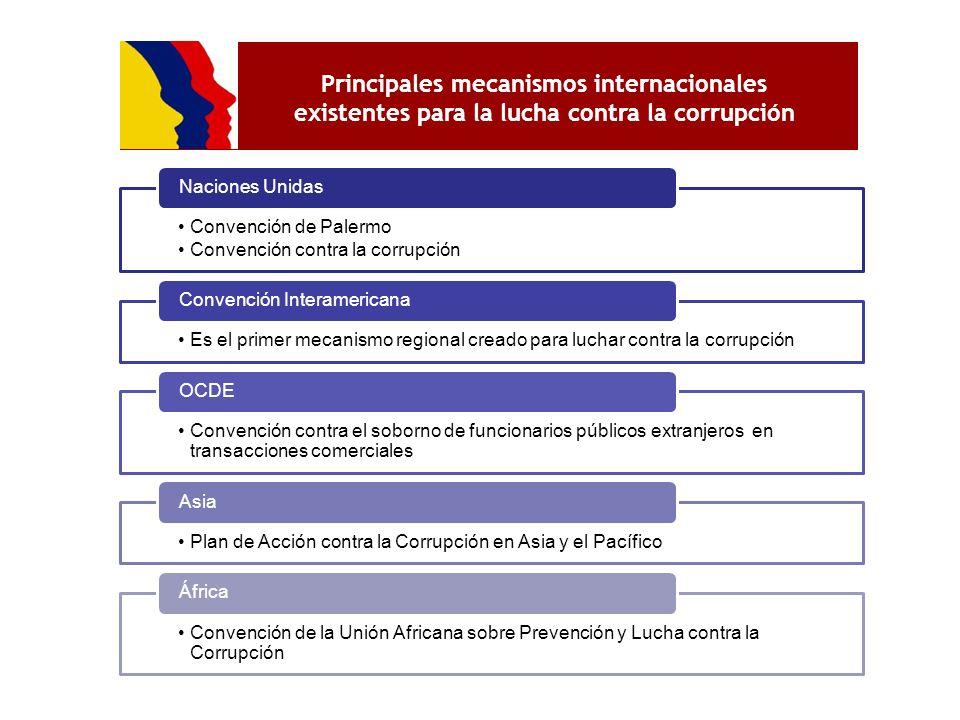 Principales mecanismos internacionales existentes para la lucha contra la corrupción