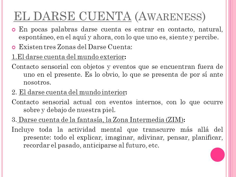 EL DARSE CUENTA (Awareness)