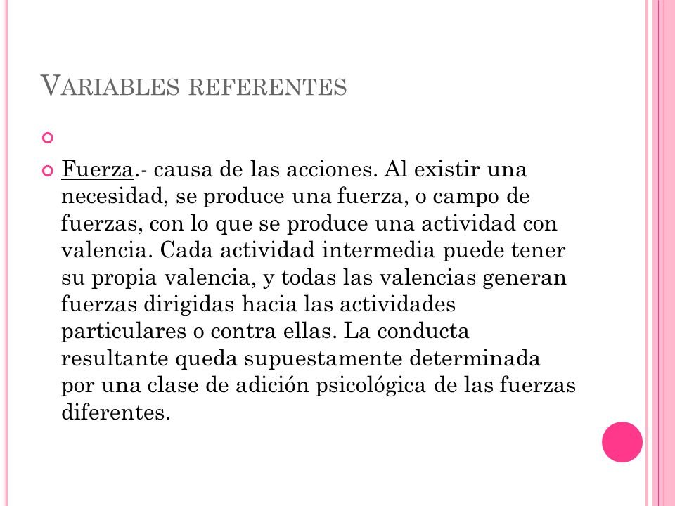 Variables referentes