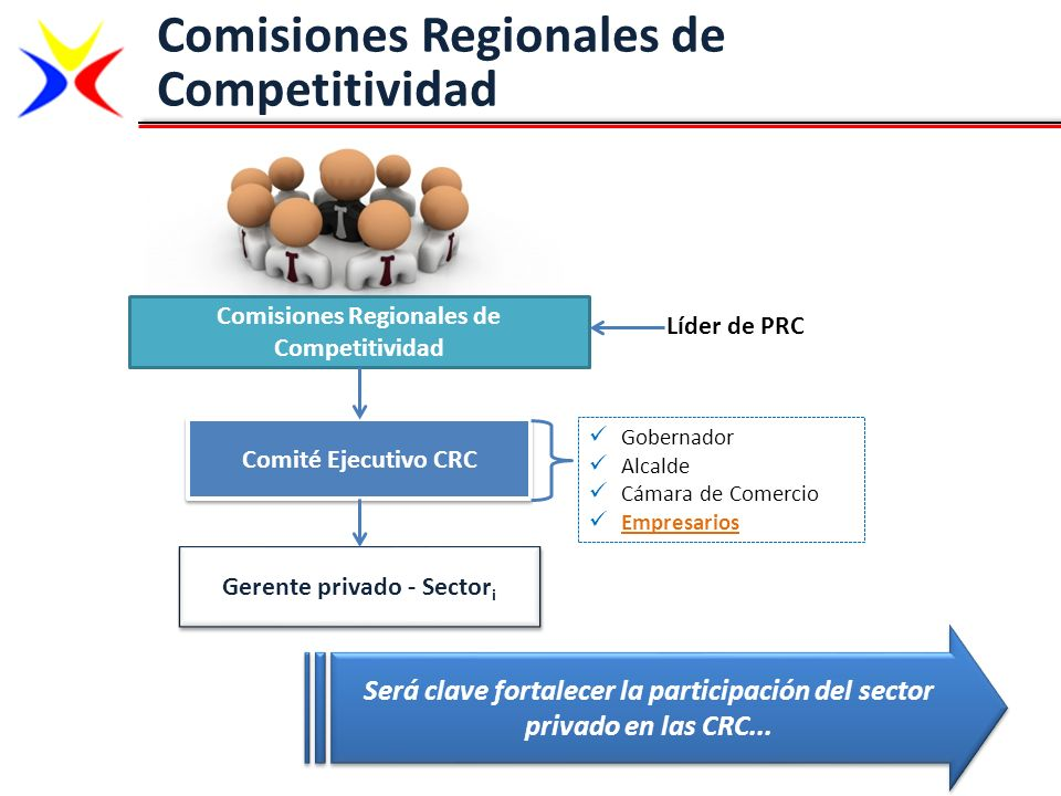 Comisiones Regionales de Competitividad Gerente privado - Sectori