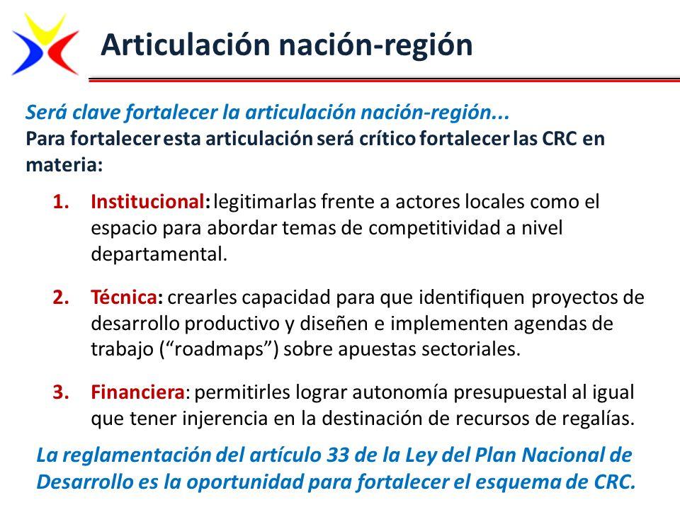 Articulación nación-región