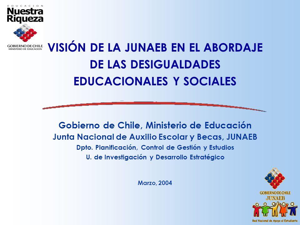 VISIÓN DE LA JUNAEB EN EL ABORDAJE DE LAS DESIGUALDADES EDUCACIONALES Y SOCIALES