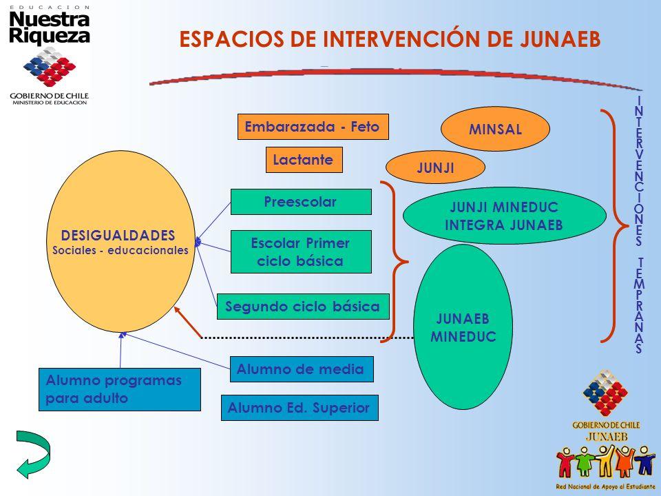 ESPACIOS DE INTERVENCIÓN DE JUNAEB
