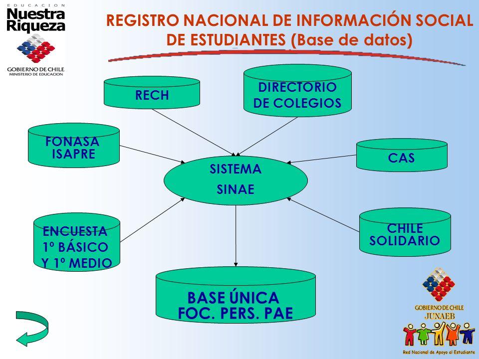 REGISTRO NACIONAL DE INFORMACIÓN SOCIAL DE ESTUDIANTES (Base de datos)