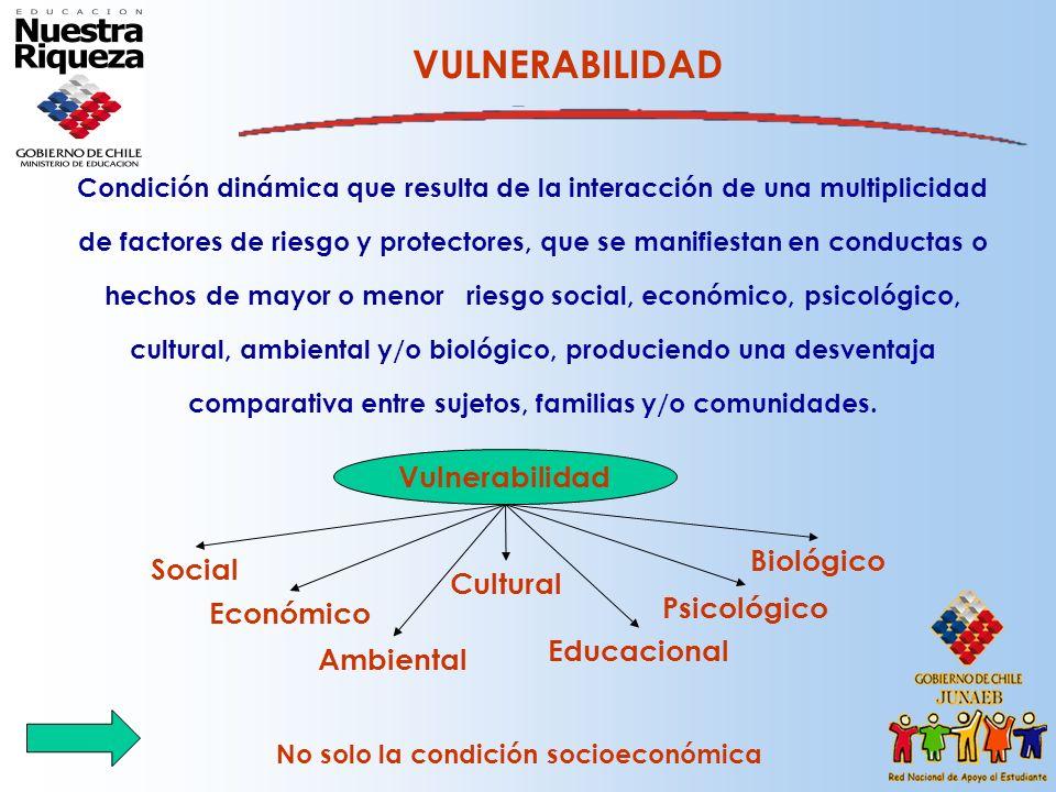 VULNERABILIDAD Vulnerabilidad Biológico Social Cultural Psicológico