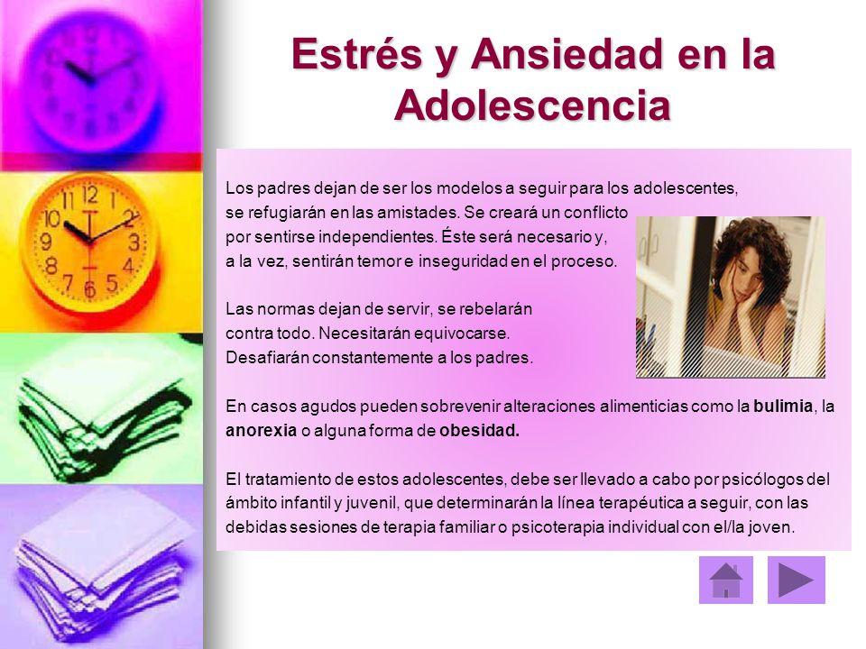 Estrés y Ansiedad en la Adolescencia
