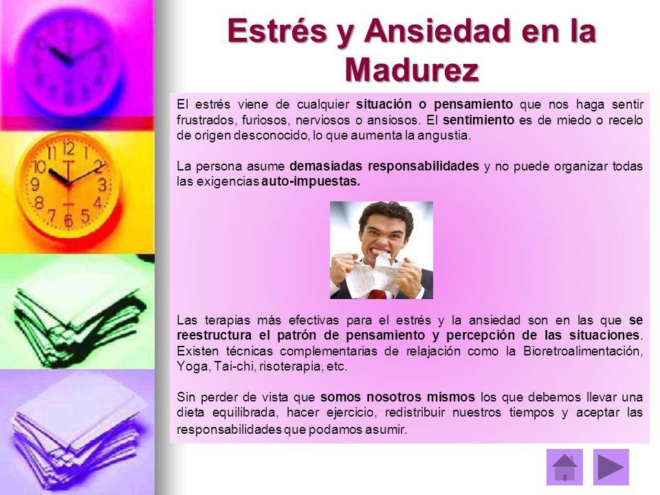 Estrés y Ansiedad en la Madurez