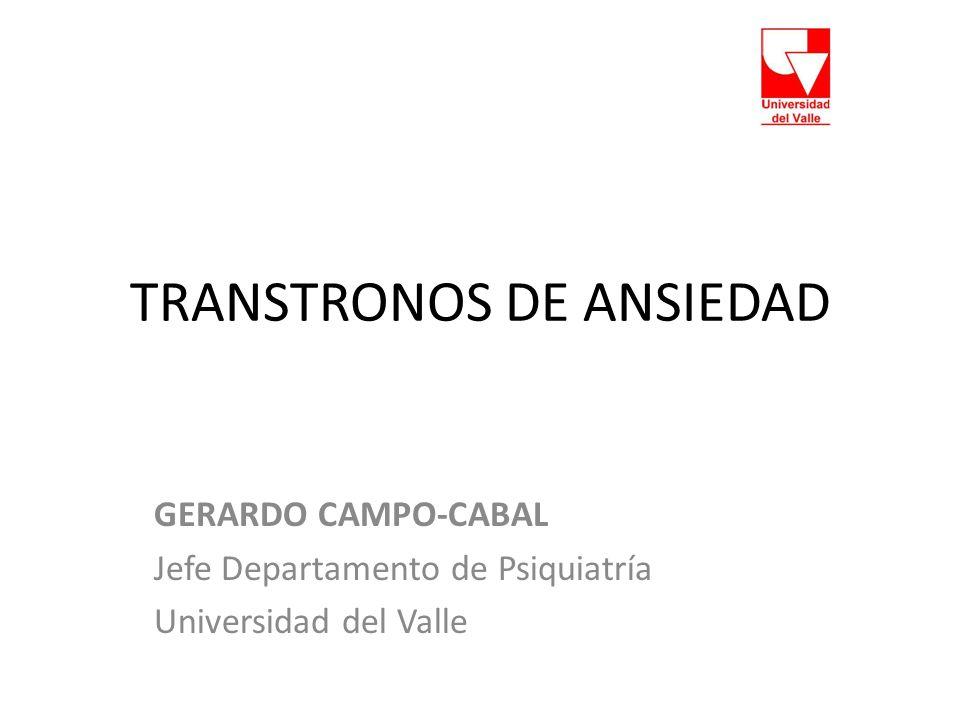 TRANSTRONOS DE ANSIEDAD