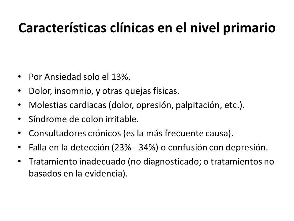 Características clínicas en el nivel primario