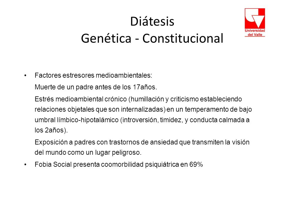 Diátesis Genética - Constitucional