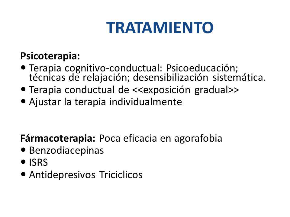 TRATAMIENTO Psicoterapia: