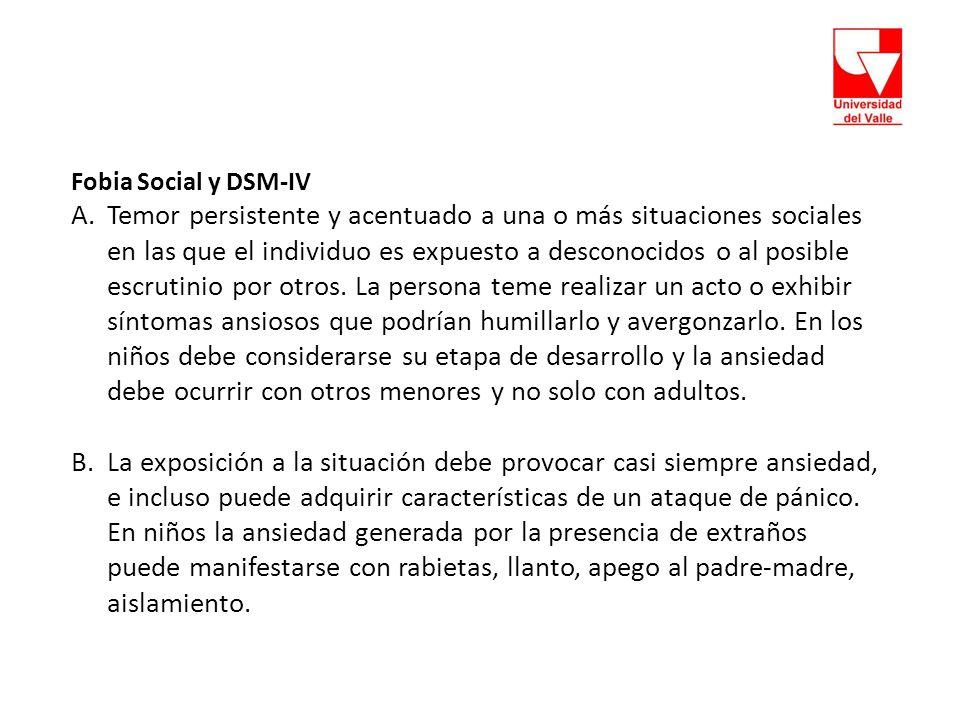 Fobia Social y DSM-IV