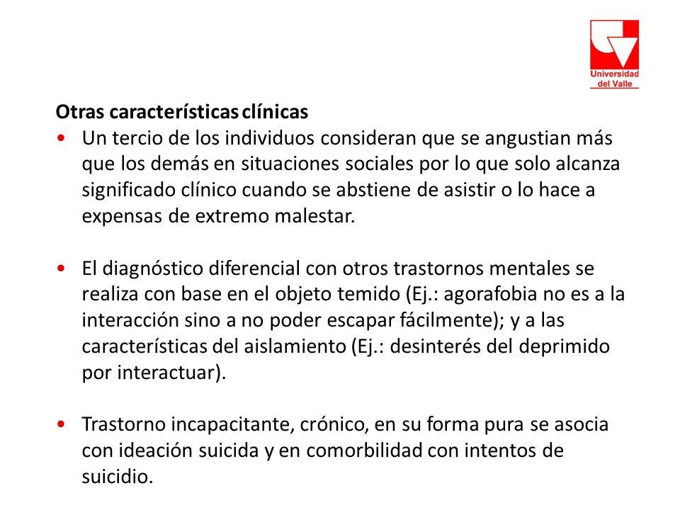 Otras características clínicas