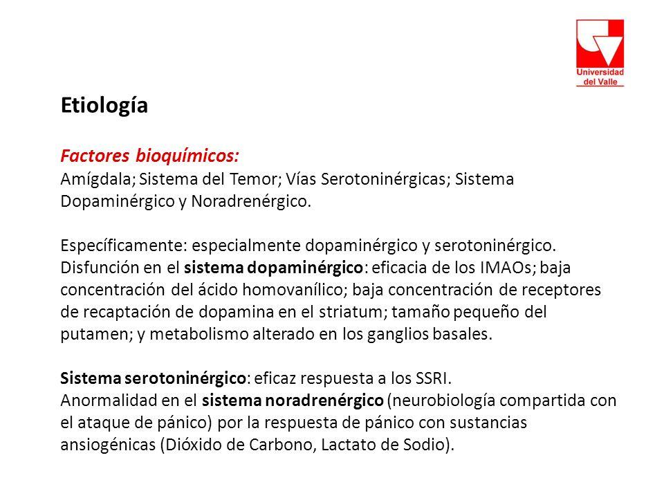 Etiología Factores bioquímicos: