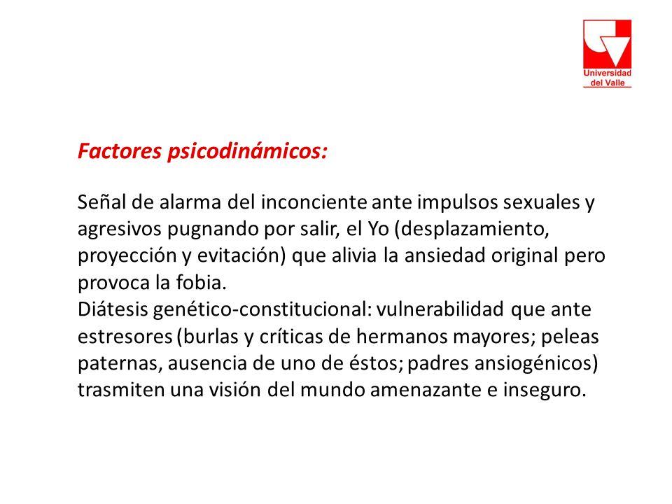 Factores psicodinámicos:
