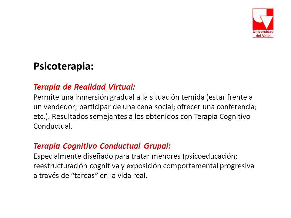 Psicoterapia: Terapia de Realidad Virtual: