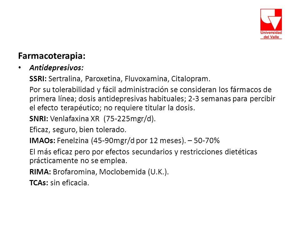Farmacoterapia: Antidepresivos: