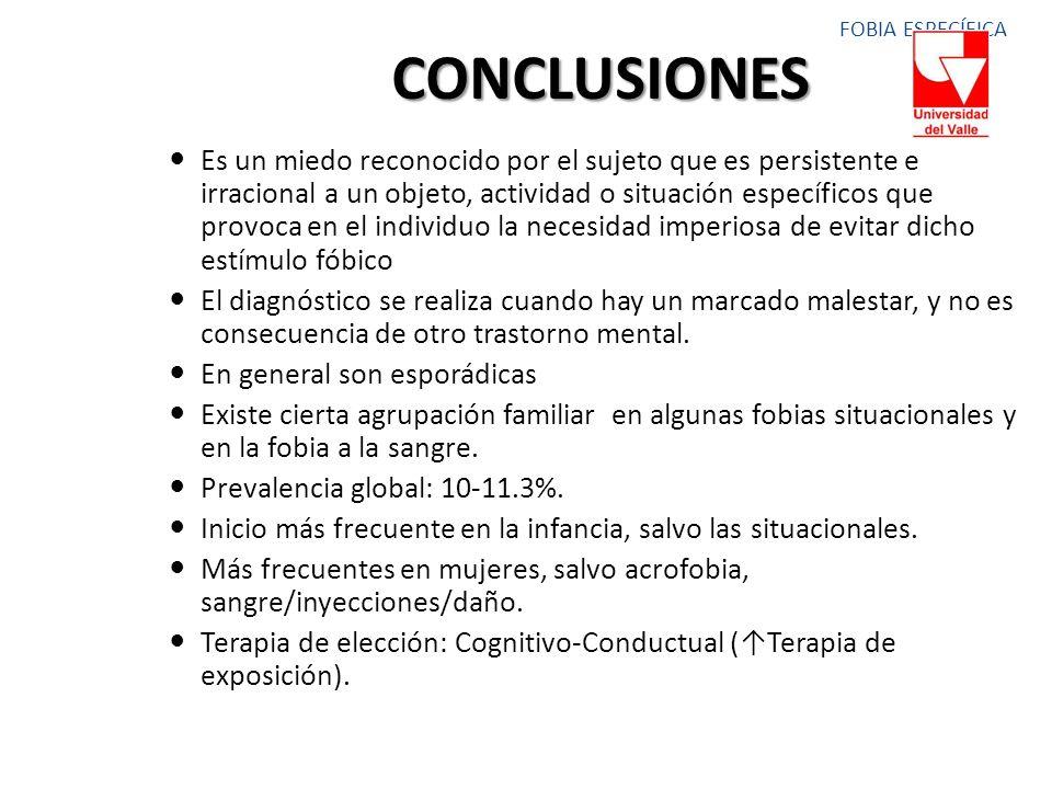 FOBIA ESPECÍFICA CONCLUSIONES.
