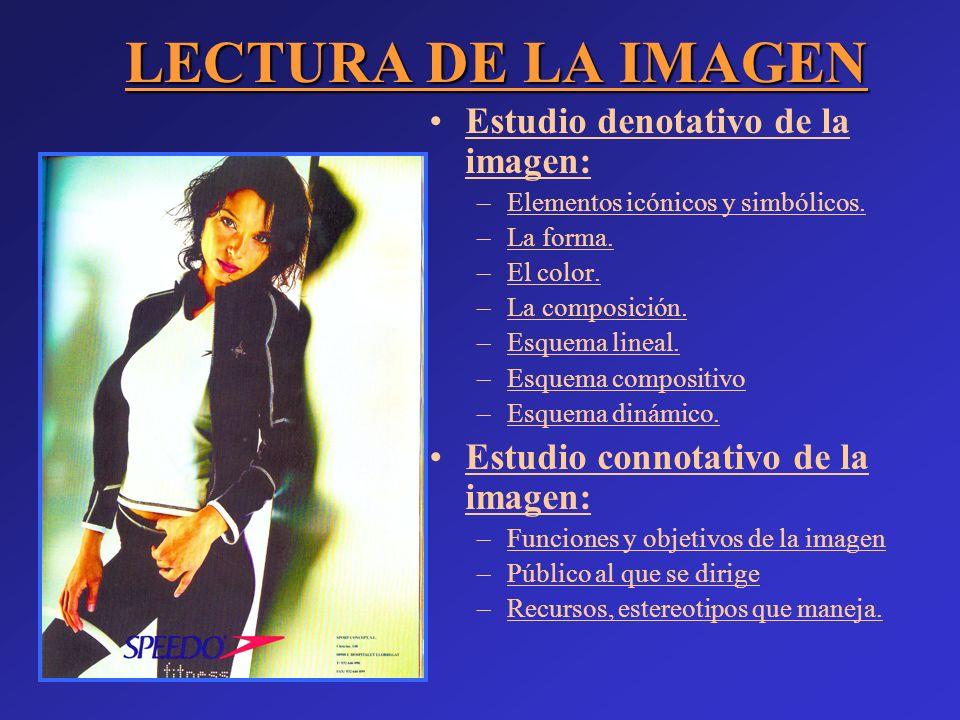 LECTURA DE LA IMAGEN Estudio denotativo de la imagen: