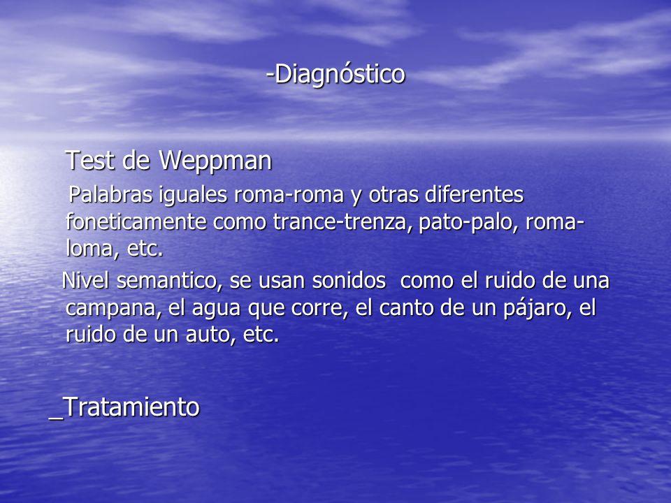 -Diagnóstico Test de Weppman _Tratamiento