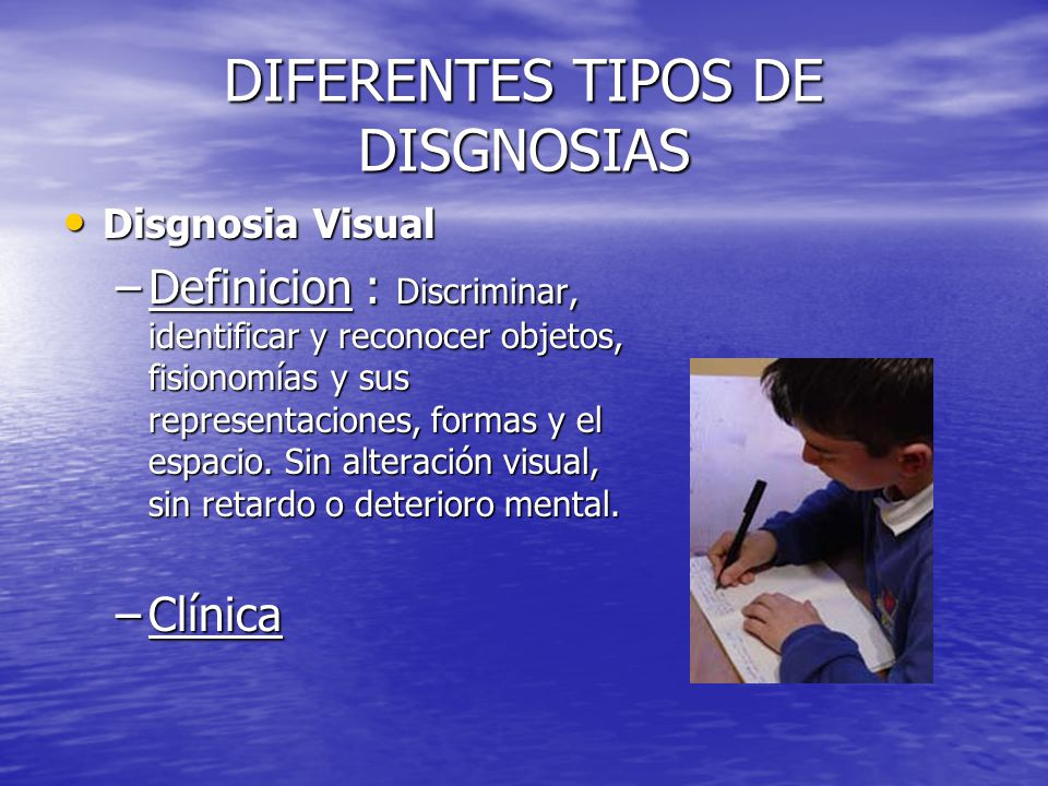 DIFERENTES TIPOS DE DISGNOSIAS
