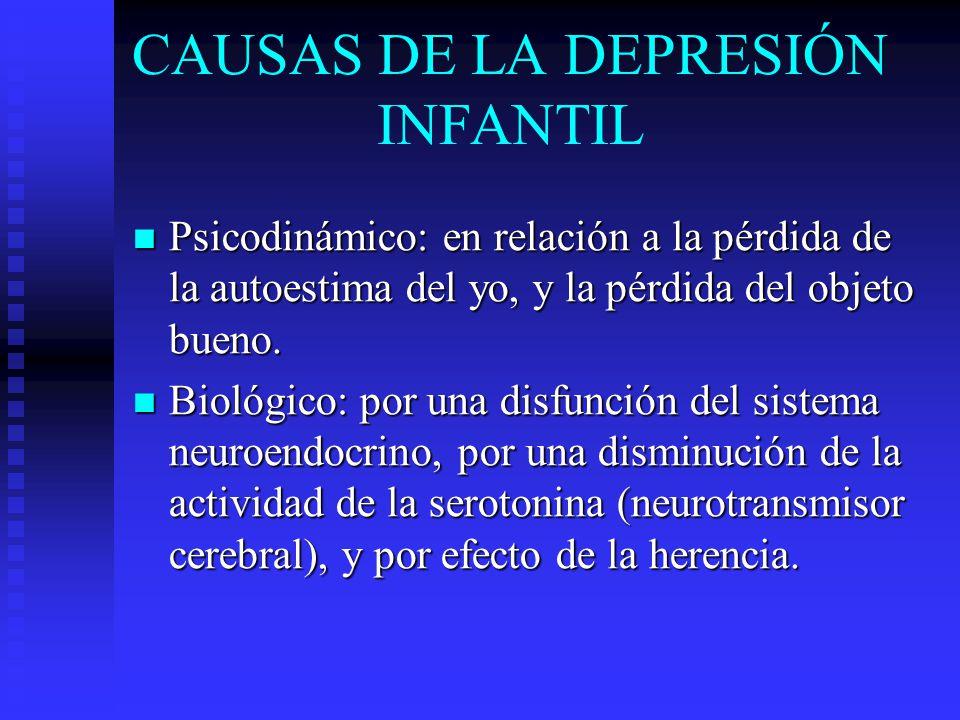 CAUSAS DE LA DEPRESIÓN INFANTIL
