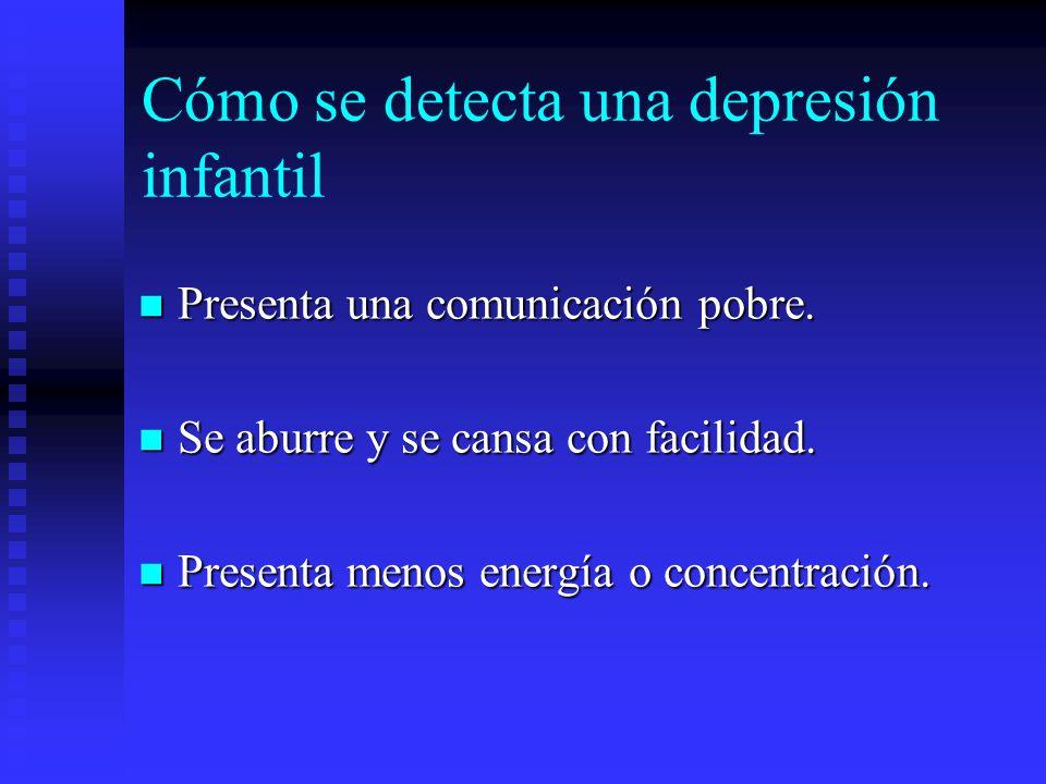 Cómo se detecta una depresión infantil