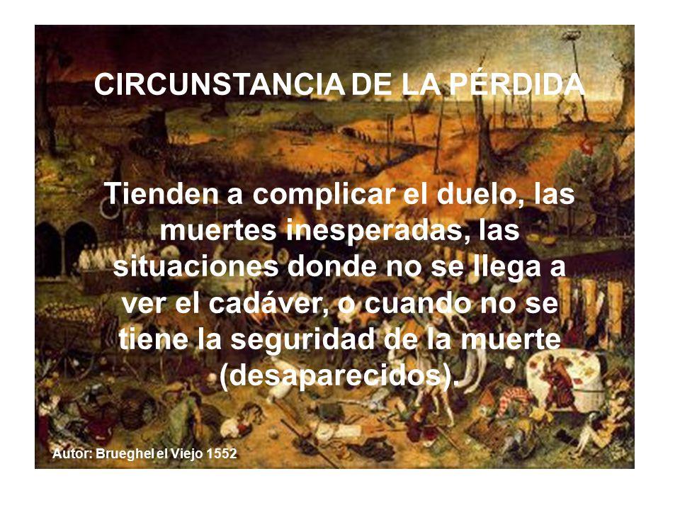 CIRCUNSTANCIA DE LA PÉRDIDA