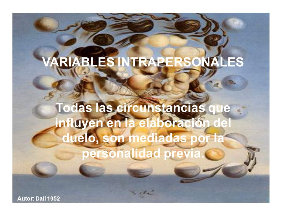 VARIABLES INTRAPERSONALES