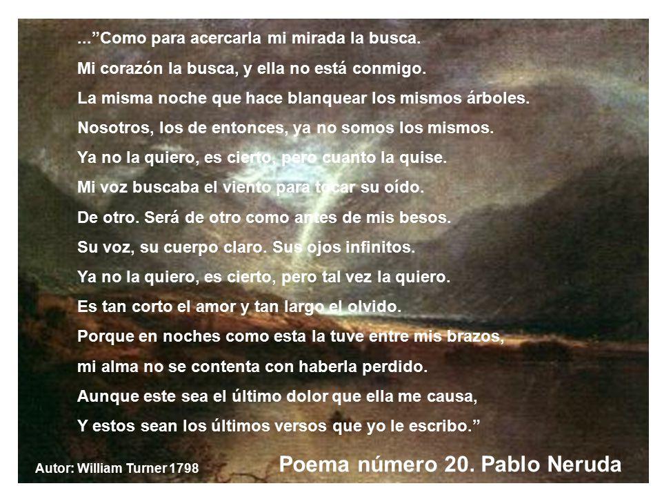 Poema número 20. Pablo Neruda