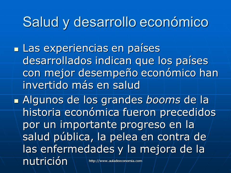 Salud y desarrollo económico
