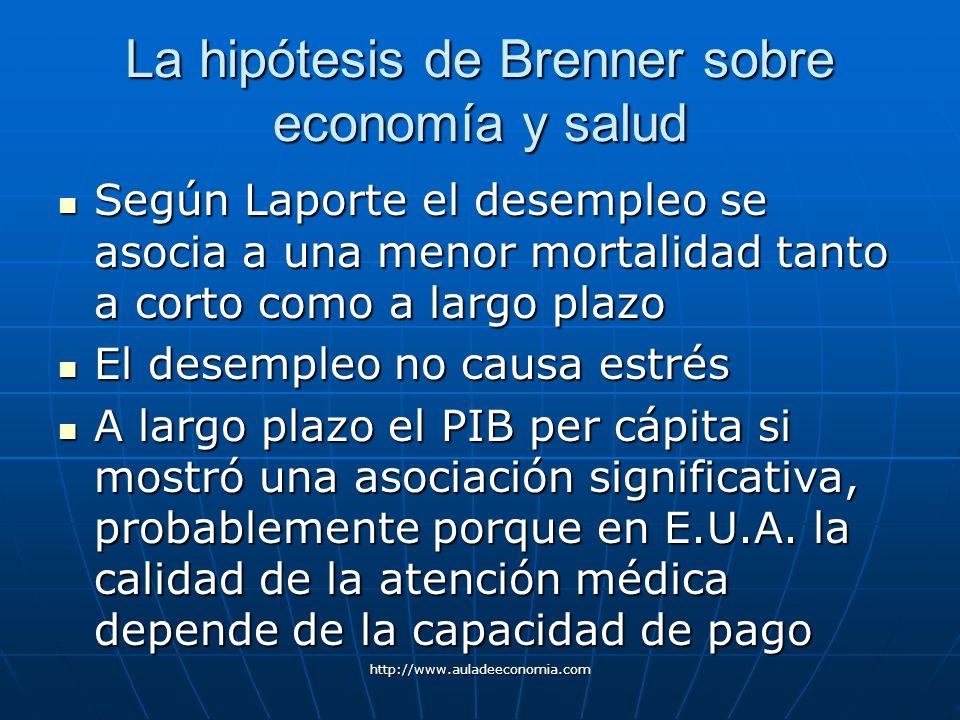 La hipótesis de Brenner sobre economía y salud