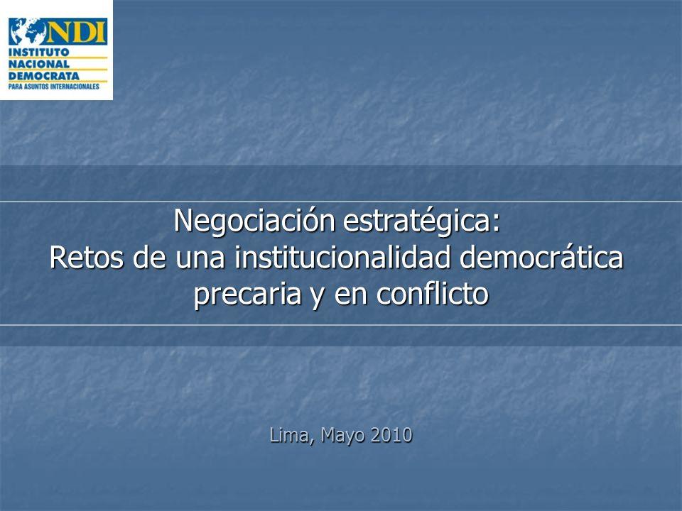 Negociación estratégica: Retos de una institucionalidad democrática