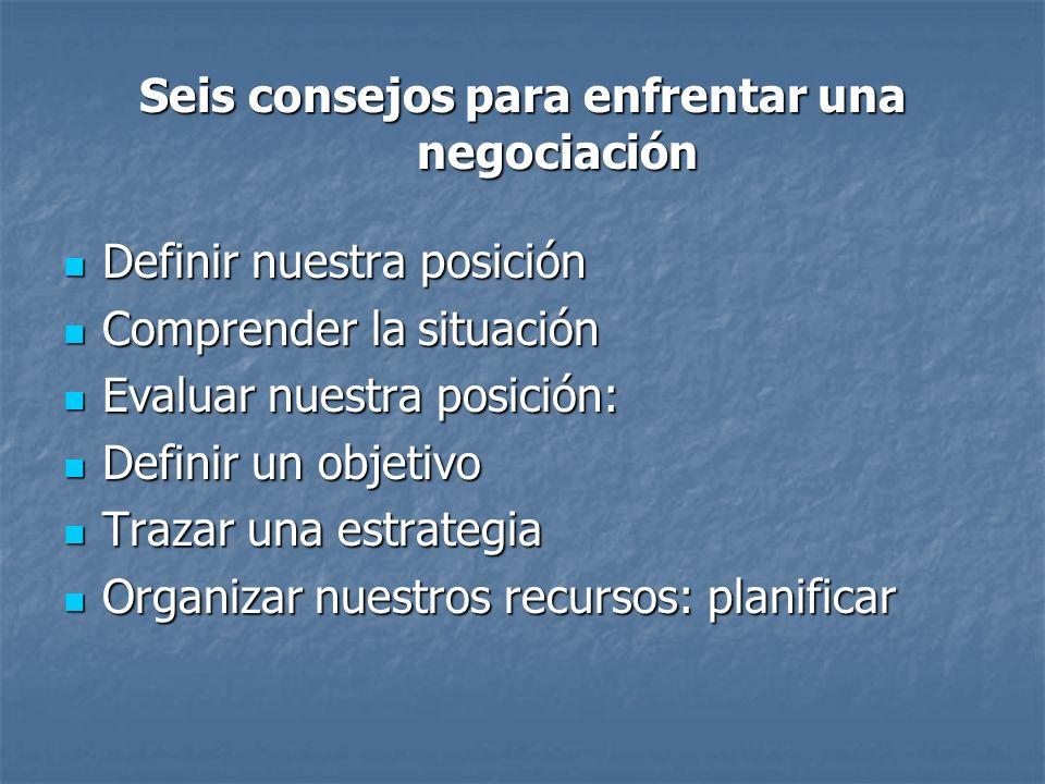 Seis consejos para enfrentar una negociación
