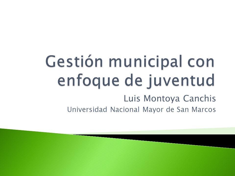 Gestión municipal con enfoque de juventud