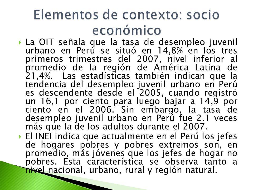 Elementos de contexto: socio económico