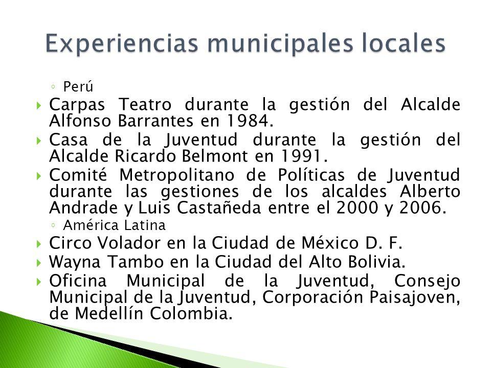 Experiencias municipales locales