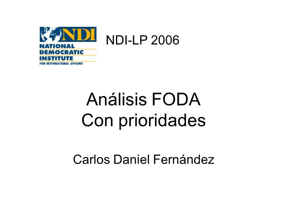 Análisis FODA Con prioridades
