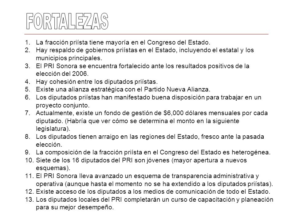 FORTALEZAS La fracción priísta tiene mayoría en el Congreso del Estado.