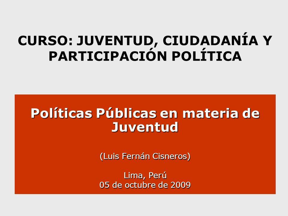 CURSO: JUVENTUD, CIUDADANÍA Y PARTICIPACIÓN POLÍTICA