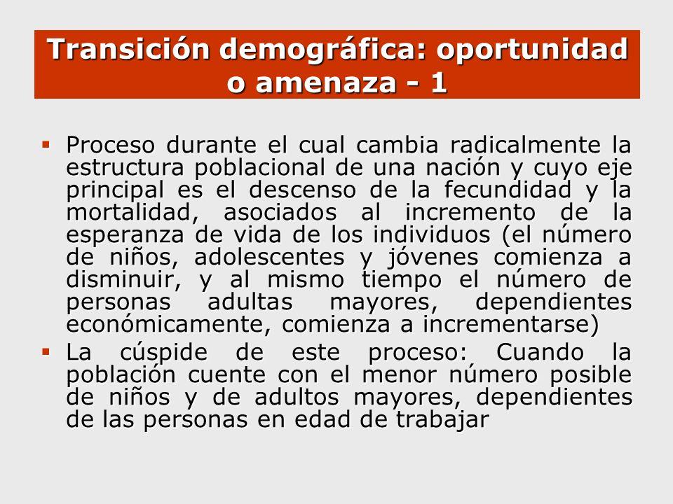 Transición demográfica: oportunidad o amenaza - 1
