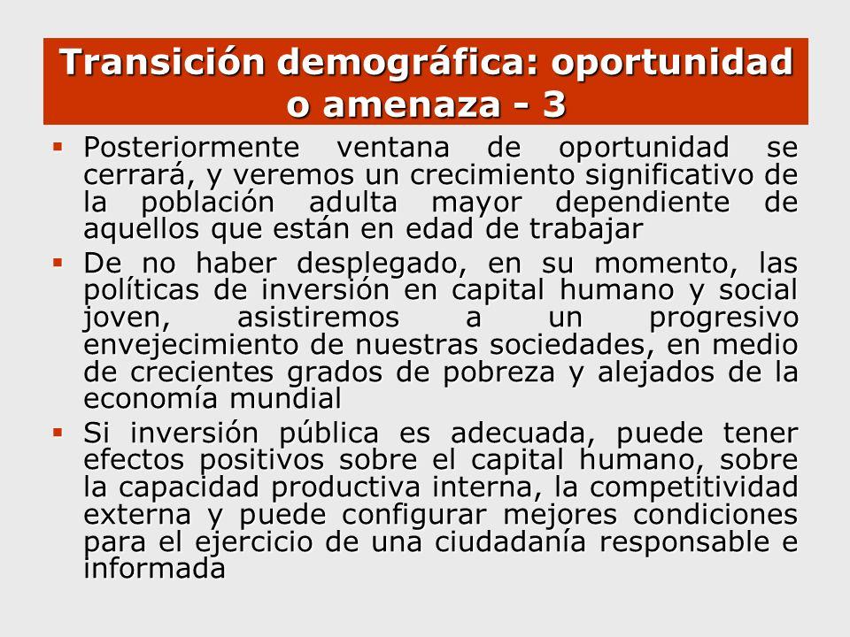 Transición demográfica: oportunidad o amenaza - 3