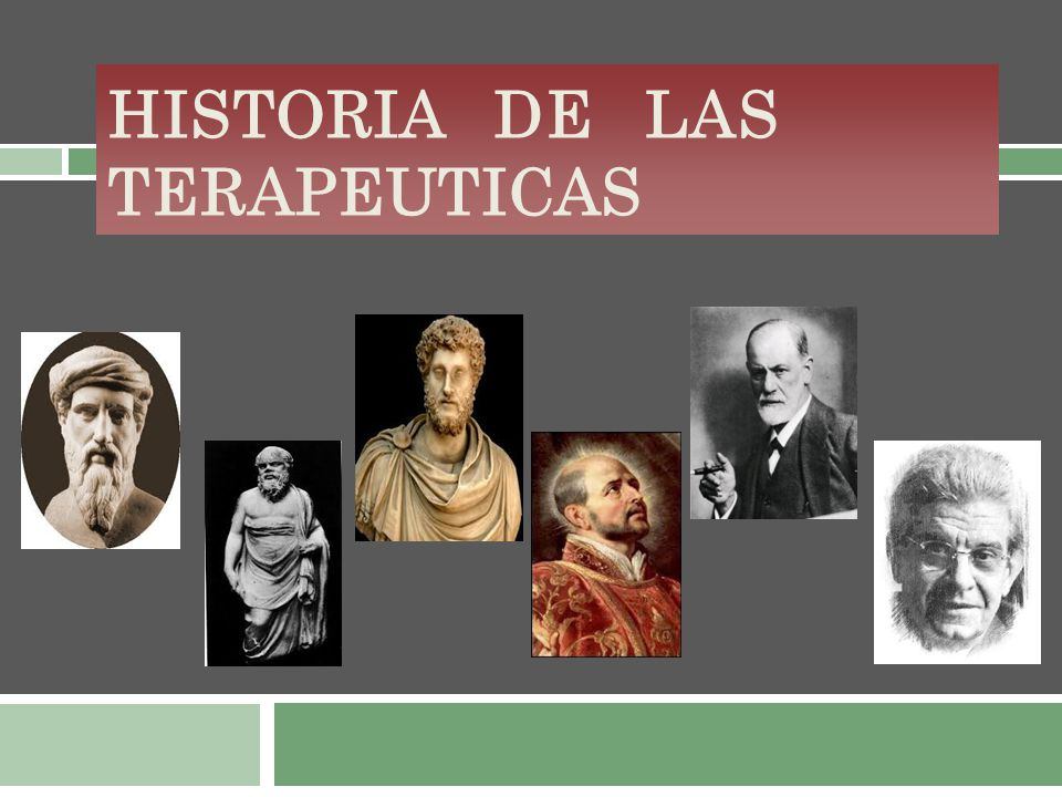 Historia de las TERAPEUTICAS