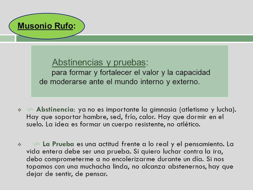 Abstinencias y pruebas:
