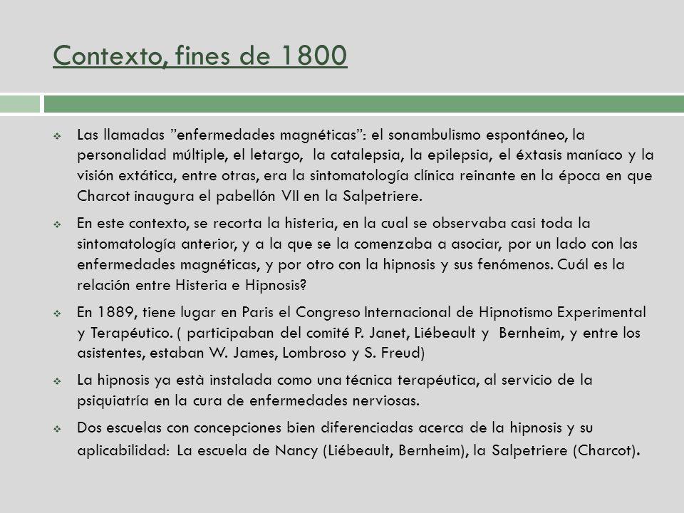 Contexto, fines de 1800