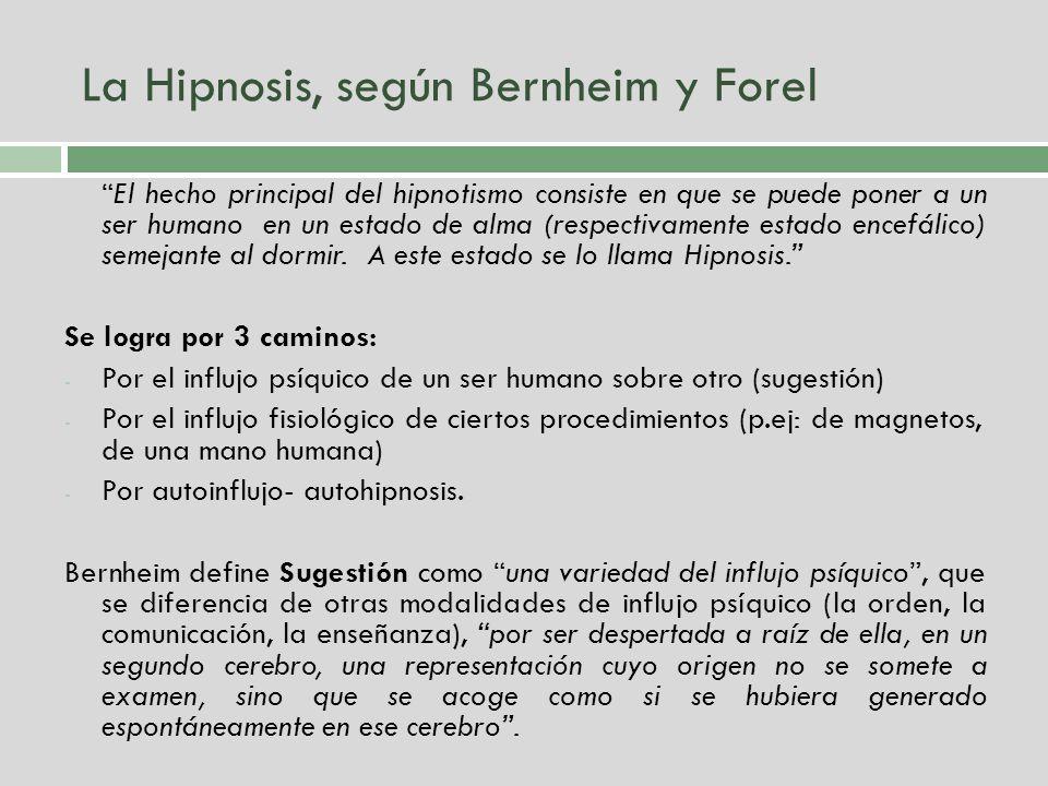 La Hipnosis, según Bernheim y Forel
